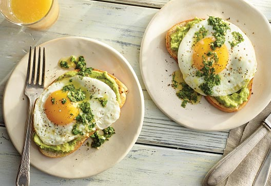 herb-avocado-toast-with-fried-egg