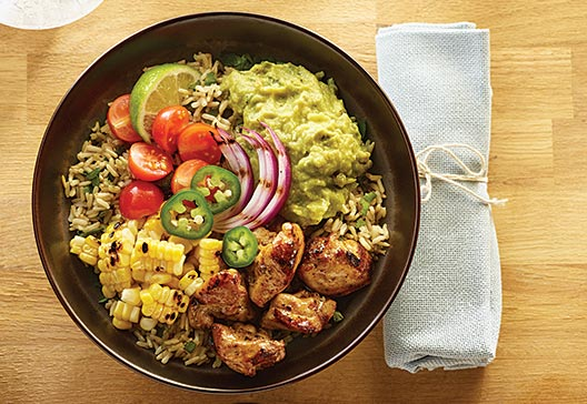 killer-grilled-chicken-and-guacamole-burrito-bowl