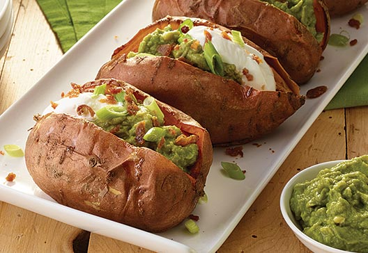 savory-bacon-guacamole-stuffed-sweet-potatoes